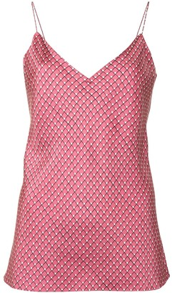 Theory V-neck printed slip vest