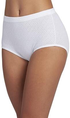 Jockey Elance Breathe Brief 3-Pack (White) Women's Underwear