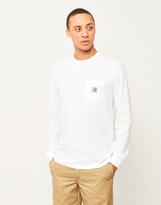 Carhartt WIP Long Sleeve Pocket T-Shirt White