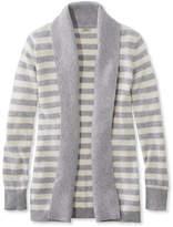 L.L. Bean Classic Cashmere Sweater, Open Cardigan Stripe