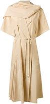 Lemaire pleated neck dress - women - Cotton/Linen/Flax - 38