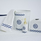 The Well Appointed House Chain Monogrammed Wastebaskets with Optional Soap Pump & Tissue Box