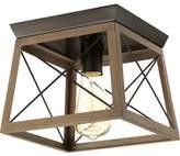 Laurel Foundry Modern Farmhouse Delon 1-Light Metal Frame Flush Mount