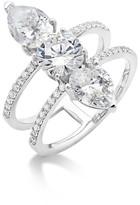 Crislu Embellished Double Band Ring
