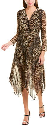 The Kooples Contemporary Leopard Midi Dress