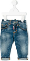 DSQUARED2 faded jeans - kids - Cotton/Spandex/Elastane - 9 mth