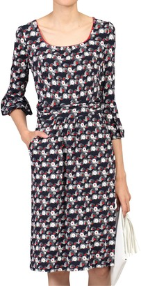 Jolie Moi Balloon Sleeve Dress, Black/Multi