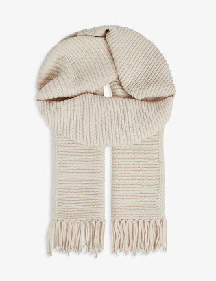 Max Mara Sagoma wool and cashmere knitted scarf