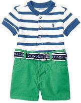 Ralph Lauren Henley Shirt, Short & Belt Set