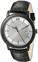 88 Rue du Rhone Men's 87WA130020 Double 8 Origin Analog Display Swiss Quartz Black Watch