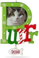 "Hallmark Cat ""Purr"" Photo Holder 2016 Keepsake Christmas Ornament"