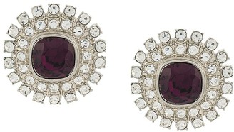 Kenneth Jay Lane Vintage 1970's Amethyst Crystal Earrings