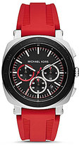 Michael Kors Bax Chronograph & Date Silicone-Strap Watch