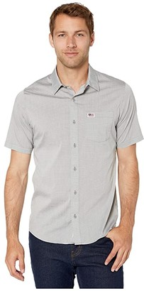 Travis Mathew TravisMathew White Buffalo Woven (Heather Grey) Men's Short Sleeve Button Up