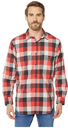 Filson Twin Lakes Sport Shirt (Red/Black/Cream Plaid) Men's Long Sleeve Button Up