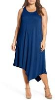 Sejour Plus Size Women's Asymmetrical Jersey Midi Dress
