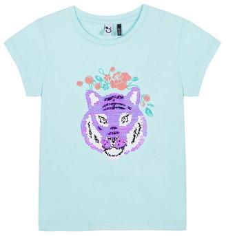 3 Pommes Sequin Wolf T-Shirt