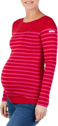 Cache Coeur x Armor Lux C'est La Vie Stripe Organic Cotton Maternity Top