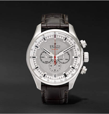 Zenith El Primero Sport 45mm Stainless Steel And Alligator Watch