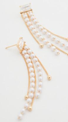 Theia Ella Drop Earrings with Petite Imitation Pearls