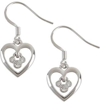 Disney Mickey Mouse Heart French Back Earrings by Arribas