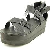 Wanted Twizzler Women Open Toe Synthetic Black Gladiator Sandal.