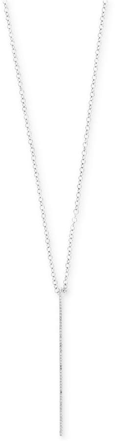 Effy Pave Classica by Diamond Bar Pendant Necklace (1/8 ct. t.w.) in 14k White Gold