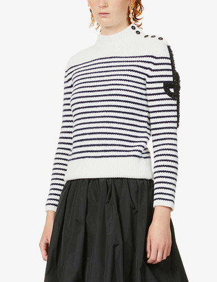 Patou Breton stripe stretch-wool jumper