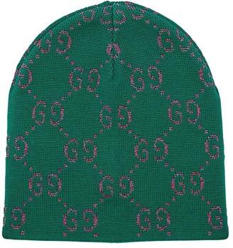 Gucci Knitted Cotton & Lurex Hat