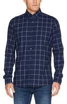 Otto Kern Men's Langarm-Hemd, Slim Fit, Freizeit, Business, Modern, Super Qualität, Karo, Flanell, 91207 / 45412 Casual Shirt,S