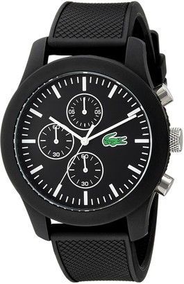 Lacoste Men's 2010821 12.12 Analog Display Japanese Quartz Black Watch