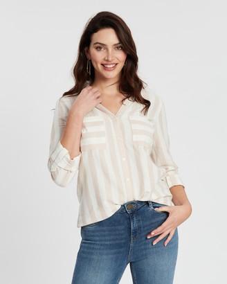 Dorothy Perkins Stripe Cotton-Linen Shirt