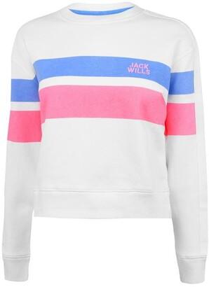 Jack Wills Mellor Track Stripe Crew Neck Sweatshirt