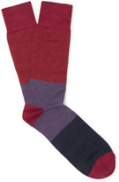 Paul Smith Striped Cotton-blend Socks - Red