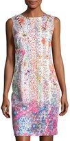Elie Tahari Emory Sleeveless Embellished Floral Sheath Dress