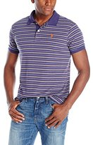 U.S. Polo Assn. Men's Feeder Striped Interlock Polo Shirt