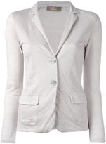 Cruciani fitted blazer jacket - women - Linen/Flax - 40