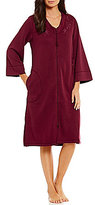 Miss Elaine Tasseled Floral-Embroidered Quilted Zip Robe
