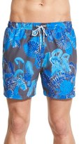 BOSS Men's 'Piranha' Print Swim Trunks