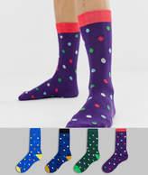 Jack & Jones 4 pack multi dot socks