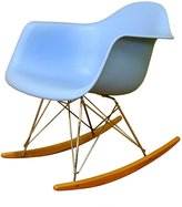 Baxton Studio Cara Cradle Chair with Ash-Wood Rockers