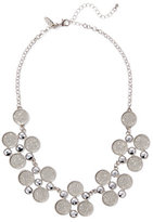 New York & Co. Glittering Circle Cluster Necklace