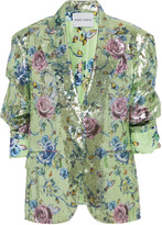 Prabal Gurung Sequined Floral-Print Jacket