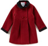 Edgehill Collection Little Girls 2T-6X Peter-Pan Collared Coat