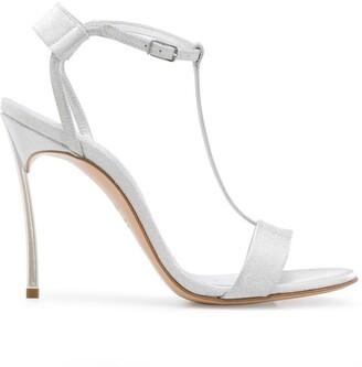 Casadei Glitter T-Bar Sandals