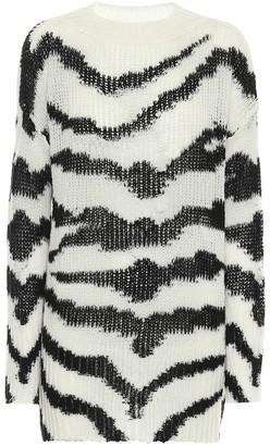 Stella McCartney Zebra-print wool-blend sweater
