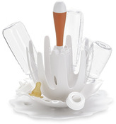 SKIP*HOP® Splash White Bottle Drying Rack with Tangerine Brush