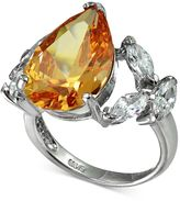 Giani Bernini Champagne and Clear Cubic Zironcia Ring in Sterling Silver, Created for Macy's