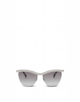 Moschino Sunglasses With Silver Frame Woman Silver Size Single Size