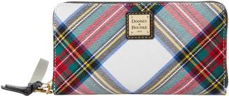 Dooney & Bourke Blakely Tartan Large Zip Around Wristlet